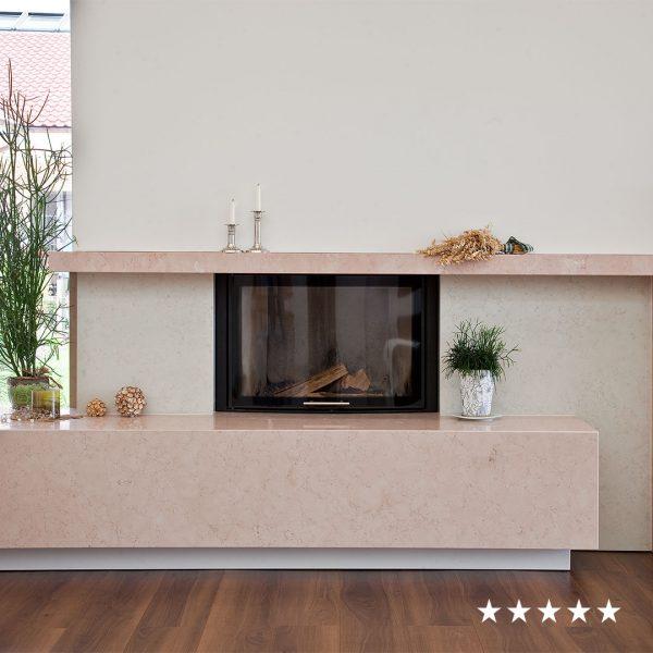 fiedler kamin rosa bianco perlino sqaure