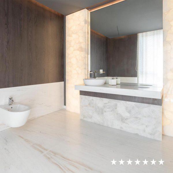 just geaste wc precioustone bianco square